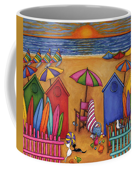 Summer Coffee Mug featuring the painting Summer Delight by Lisa Lorenz