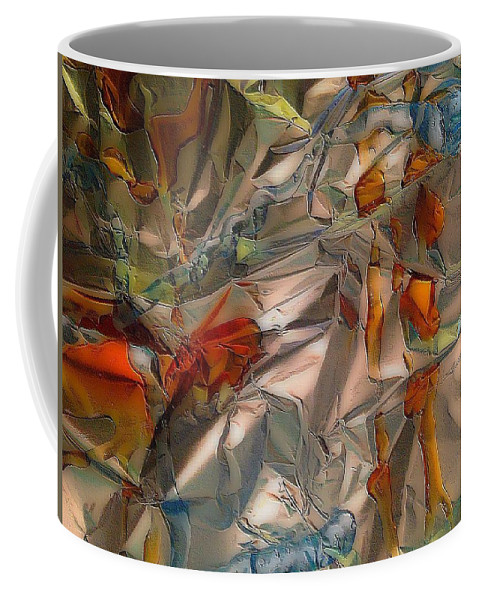 Summer Abstract Coffee Mug featuring the mixed media Summer by Elle Justine