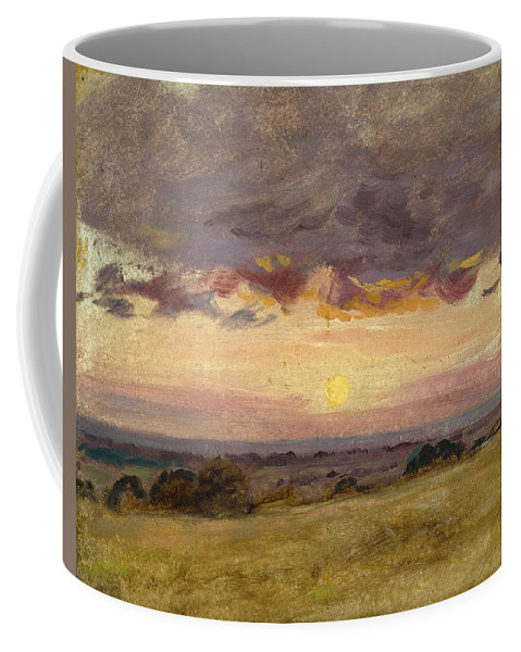 John Constable Coffee Mug featuring the painting Summer Evening With Storm Clouds by John Constable