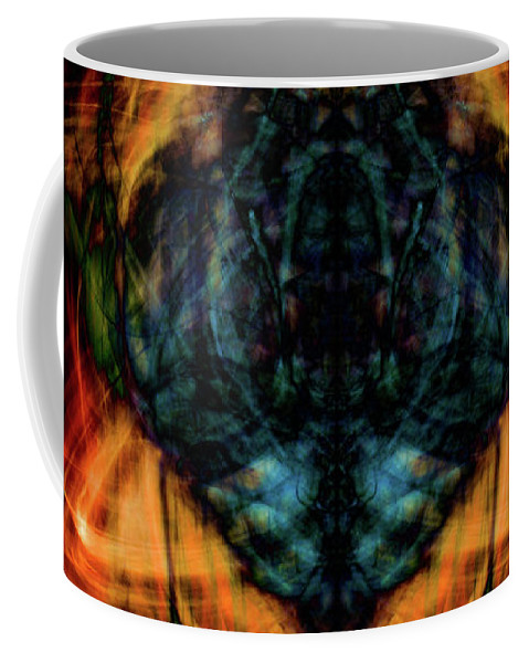 Summer Coffee Mug featuring the photograph 10644 - Summer Fire Mask 44 - The Battle Imp by Colin Hunt