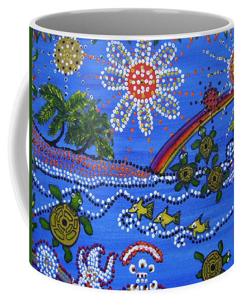 Coffee Mug featuring the painting Summer Fun by Laura Johnson