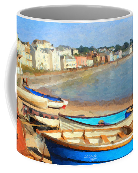 Summer Coffee Mug featuring the painting Summer In Dawlish by Chris Armytage