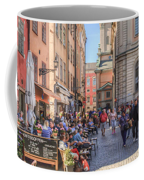 City Scape Coffee Mug featuring the photograph Summer In The City by Kristina Rinell