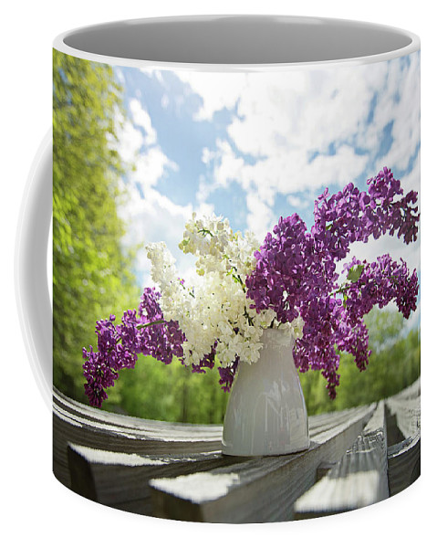 Flowers Coffee Mug featuring the photograph Summer Lilacs by Sue Collura