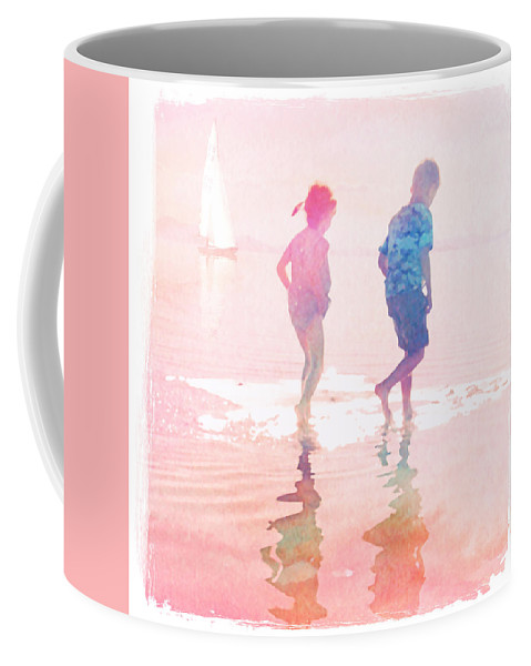 Summer Coffee Mug featuring the mixed media Summer by Mal Bray