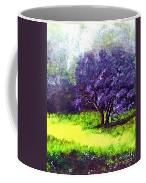 Fine Art Print Coffee Mug featuring the painting Summer Mist by Patricia Griffin Brett
