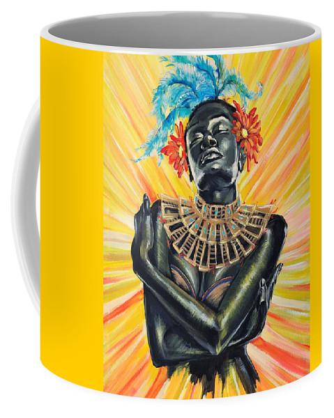 Yellow Coffee Mug featuring the painting Summer by Nicol Kele