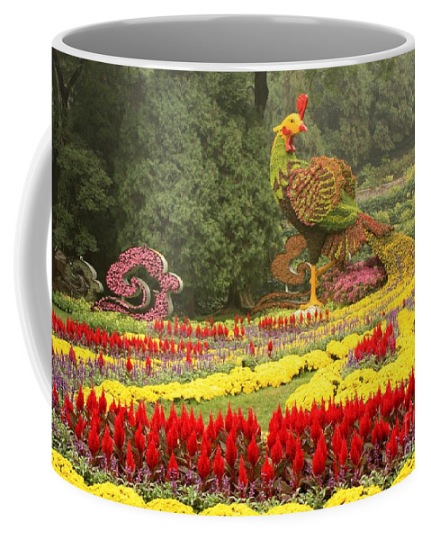 Phoenix Symbol Of Empress Coffee Mug featuring the photograph Summer Palace Flower Phoenix by Carol Groenen