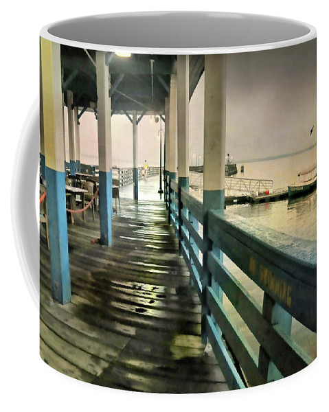 Pier Coffee Mug featuring the photograph Summer Rain by Diana Angstadt