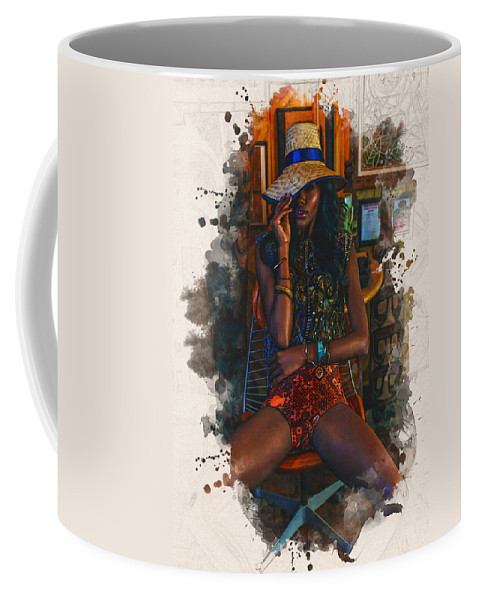 Home Art Coffee Mug featuring the digital art Summer Ready by Don Kuing
