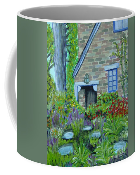 Cottage Coffee Mug featuring the painting Summer Retreat by Laurie Morgan