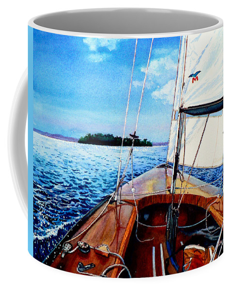 Laser Boat Coffee Mug featuring the painting Summer Sailing by Hanne Lore Koehler