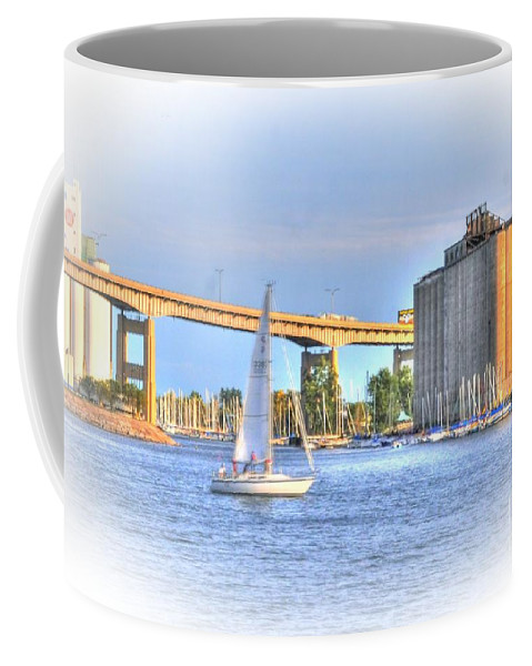 Sailboat Coffee Mug featuring the photograph Summer Sailing by Kathleen Struckle