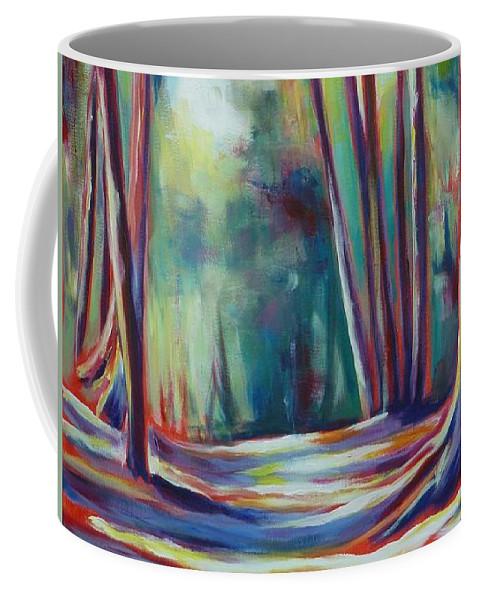 Tree Coffee Mug featuring the painting Summer Shadows by Sheila Diemert