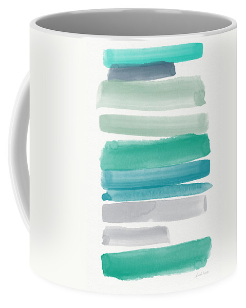 Abstract Sky Coffee Mug featuring the painting Summer Sky by Linda Woods