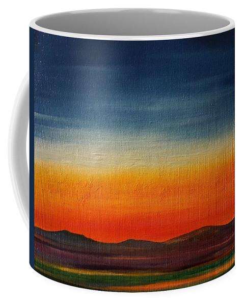 Summer Stillness In Montana Coffee Mug featuring the painting Summer Stillness In Montana  71 by Cheryl Nancy Ann Gordon