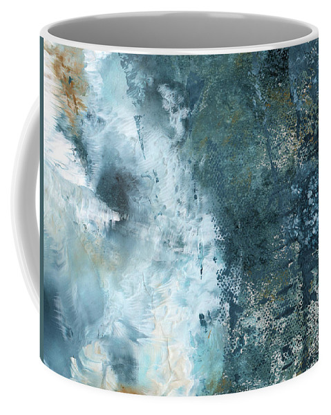 Abstract Coffee Mug featuring the painting Summer Storm- Abstract Art By Linda Woods by Linda Woods