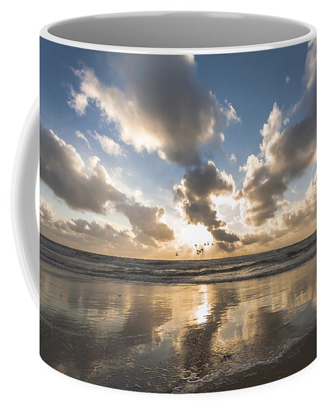 Sunset Coffee Mug featuring the photograph Summer Storm by Alex Hiemstra