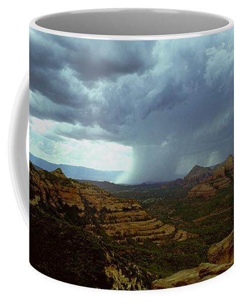 Sedona Coffee Mug featuring the photograph Summer Storm by Gary Wonning