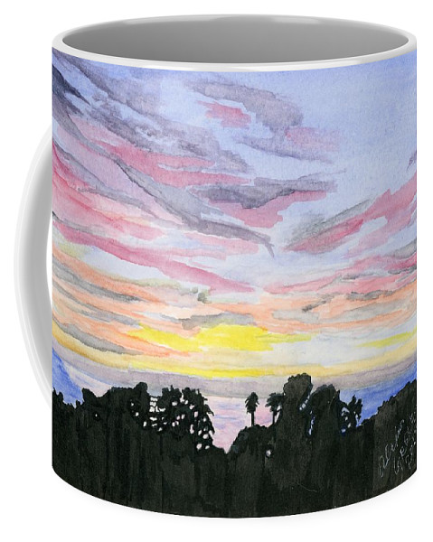Sunset Coffee Mug featuring the painting Summer Sunset by Alexis Grone