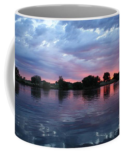 Sunset Coffee Mug featuring the photograph Summer Sunset On Yakima River 4 by Carol Groenen