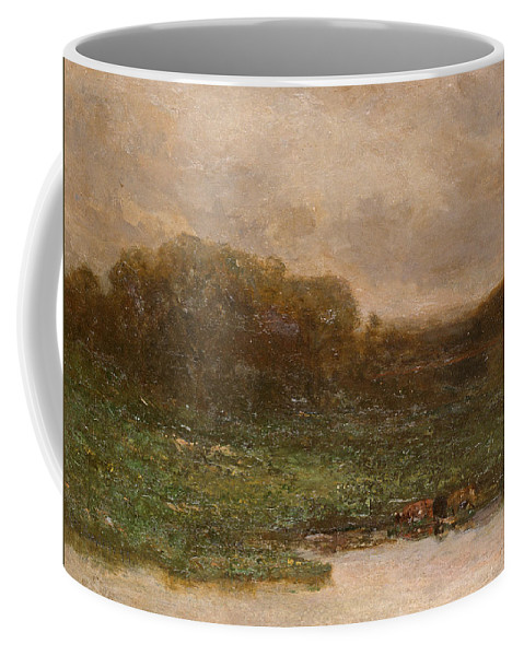 Edward Mitchell Bannister Coffee Mug featuring the painting Summer Twilight by Edward Mitchell Bannister