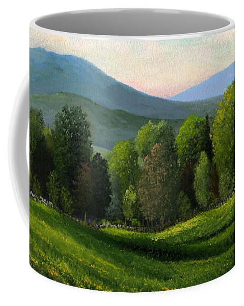 Landscape Coffee Mug featuring the painting Summers Ending by Frank Wilson