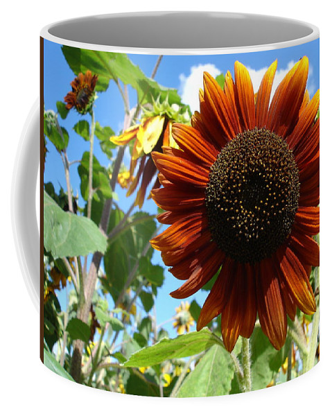 Sunflower Coffee Mug featuring the photograph Summers Here by Susan Baker