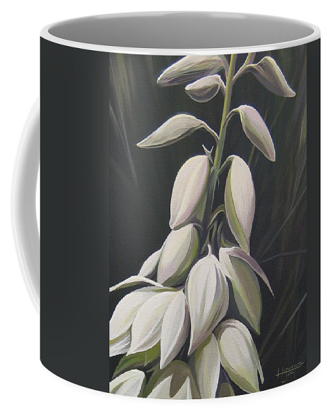 Yucca Plant Coffee Mug featuring the painting Summersilver by Hunter Jay