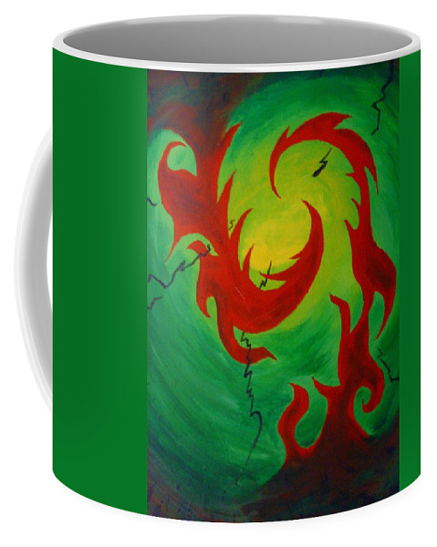 Summertime Coffee Mug featuring the painting Summertime by Andrew Gillette
