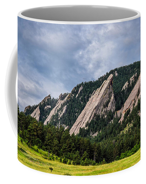 Flatiron Coffee Mug featuring the photograph Summertime At The Flatirons by Michael Putthoff