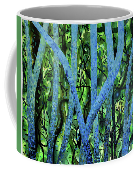 Paper Coffee Mug featuring the painting Summertree Fantasia by Geoff Greene