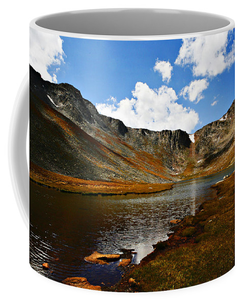 Travel Coffee Mug featuring the photograph Summit Lake Colorado by Marilyn Hunt