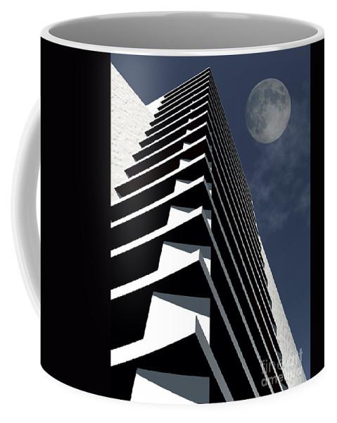 Abstract Coffee Mug featuring the digital art Summit by Richard Rizzo