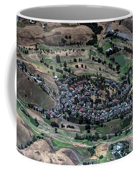 Summitpointe Golf Club Coffee Mug featuring the photograph Summitpointe Golf Club Golf Course Aerial by David Oppenheimer