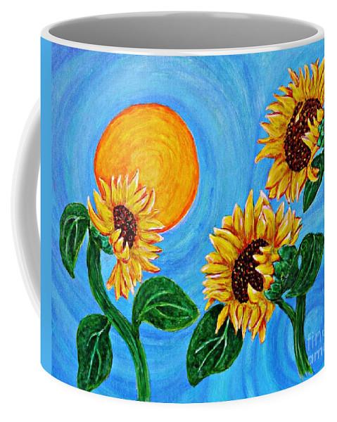 Sunflower Coffee Mug featuring the painting Sun Dance by Sarah Loft