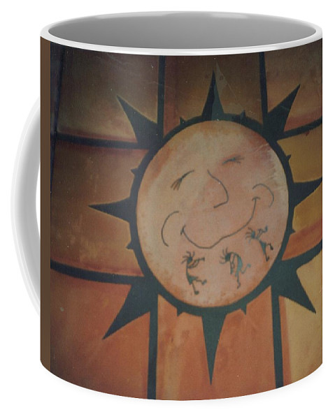 Tile Coffee Mug featuring the relief Sun Dance Tile Kit by Patrick Trotter