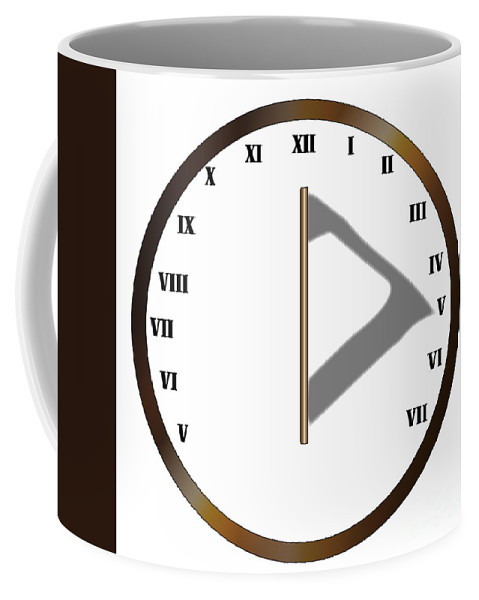 Sundial Coffee Mug featuring the digital art Sun Dial Face by Bigalbaloo Stock
