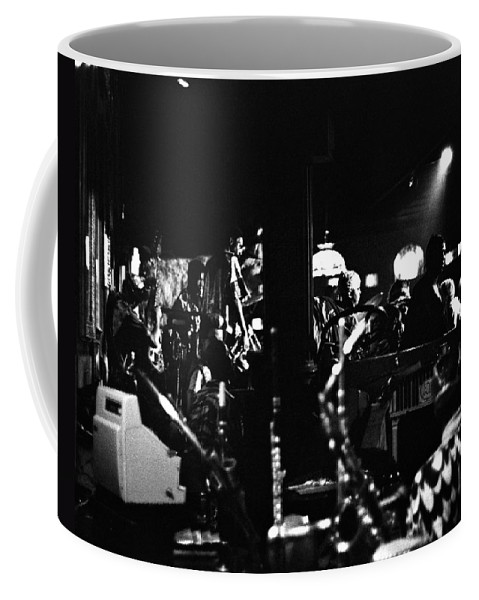 Coffee Mug featuring the photograph Sun Ra Arkestra At The Red Garter 1970 Nyc 2 by Lee Santa