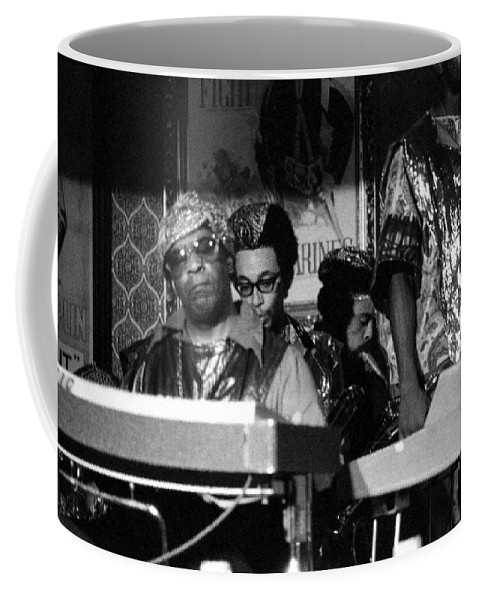 Jazz Coffee Mug featuring the photograph Sun Ra Arkestra At The Red Garter 1970 Nyc 36 by Lee Santa