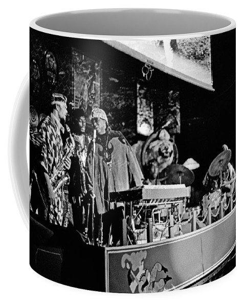 Jazz Coffee Mug featuring the photograph Sun Ra Arkestra At The Red Garter 1970 Nyc 5 by Lee Santa