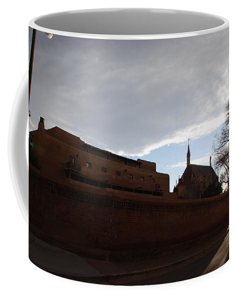 New Mexico Coffee Mug featuring the photograph Sun Thru The Trees by Rob Hans
