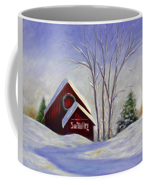 Landscape White Coffee Mug featuring the painting Sun Valley 1 by Shannon Grissom