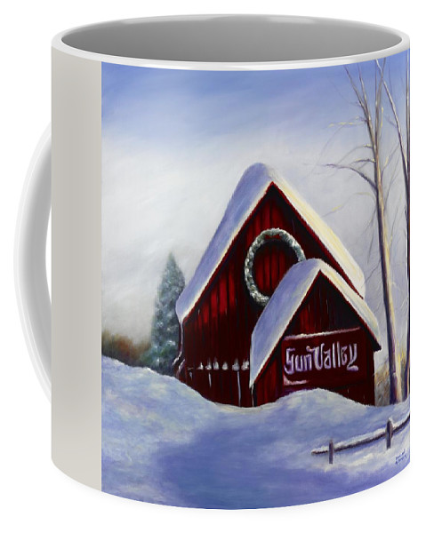 Landscape Coffee Mug featuring the painting Sun Valley 3 by Shannon Grissom
