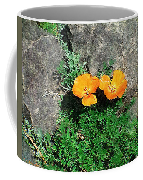 Cliff Coffee Mug featuring the painting Sunbathers by RC DeWinter