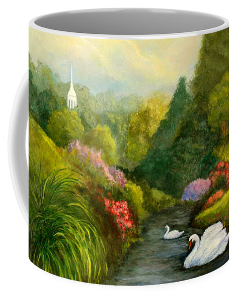 Christian Coffee Mug featuring the painting Sunday Afternoon by Gail Kirtz