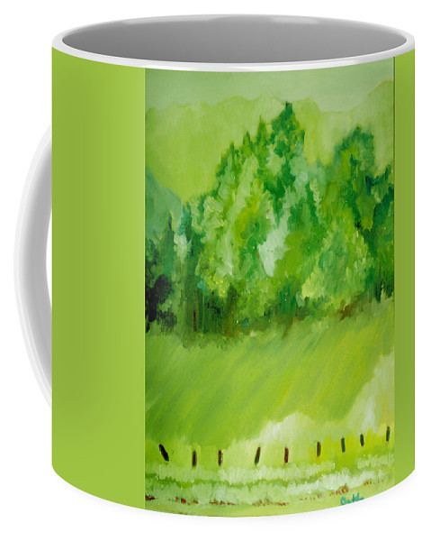 Spring Coffee Mug featuring the painting Sunday At Two Thirty by Seth Weaver