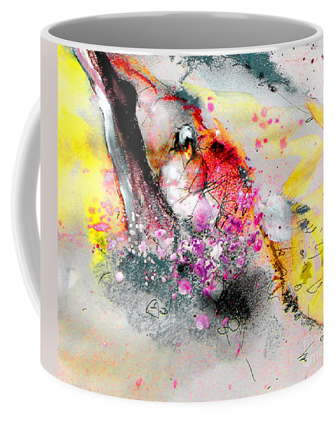 Pastel Painting Coffee Mug featuring the painting Sunday By The Tree by Miki De Goodaboom