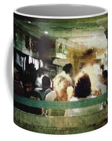 People Coffee Mug featuring the painting Sunday Dinner Gotham by RC DeWinter