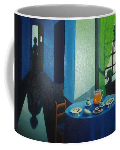 Breakfast Coffee Mug featuring the painting Sunday Morning Breakfast by Nancy Mueller